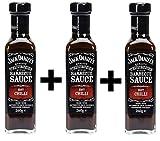 Jack Daniels Barbecue Sauce Hot Chilli 3x 260ml
