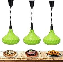 Food Chauffage Lampe chauffante 3 Pack Alimentaire Chauffage Chauffage Lampe Chaleur Commercial Temps de préservation de c...