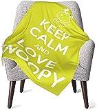 Keyboard cover Halten Sie Muschel und Liebe Snoopy Babydecke oder Flauschige Decke für Kinder Unisex Überwurfdecke für Couch Chair Travel Superweiche warme Kinderdecke 50x40in