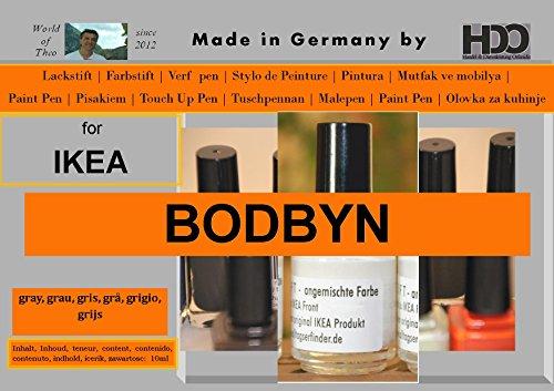 HDO Farbstift Lackstift Touch-Up-Pen for IKEA BODBYN Gray, grau