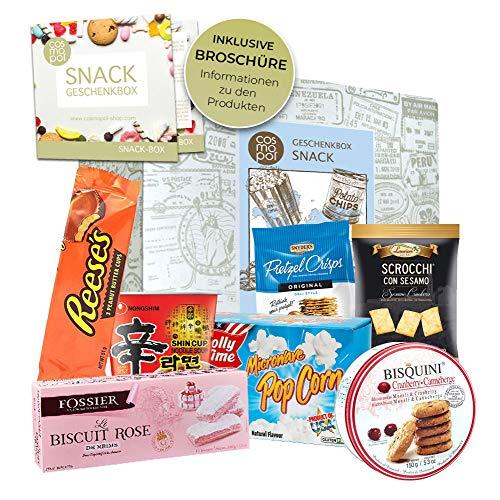 Geschenkidee Snack Box   Geschenkset Für Naschkatzen Männer Frauen   Snacks Und Süßigkeiten Aus Aller Welt   Besondere Geschenkidee I Probierset