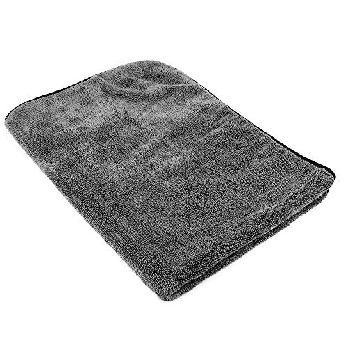 """SGCB Pro Microfiber Car Wash Drying Towel, 36"""" X 24"""" Large One-Sweep-Pass Long Plush Twist Pile Amphibious 