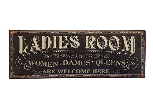 zeitzone Blechschild Ladies Room Schild Toilette Damen Vintage Nostalgie 36x13cm
