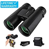 UncleHu 12X42 Binoculars for Adults Compact with Low Light Night Vision, Waterproof High Power Binoculars for...