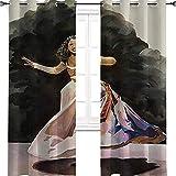 """Aotuma Musical The Alexander Hamilton1 - Tende oscuranti per camera da letto, con occhielli termici, oscuranti, per soggiorno, Poliestere, Multi, 2 panel(36""""W x 96""""L W92cmxL245cm)"""