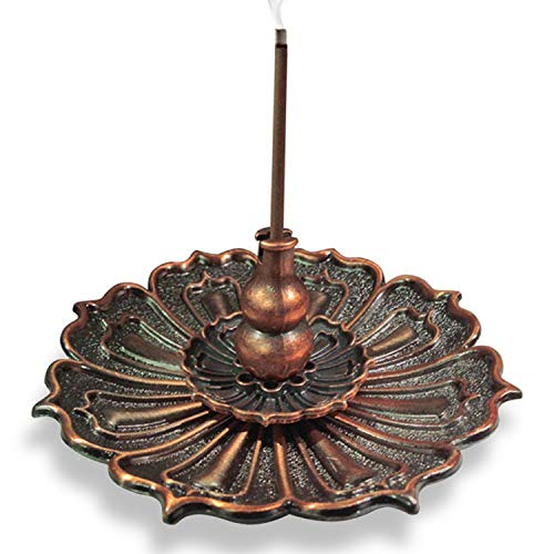 3-in-1 Brass Lotus Stick Incense Burner and Cone Incense Holder Ash Catcher