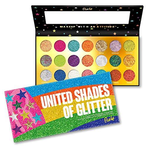 RUDE United Shades of Glitter - 21 Pressed Glitter Palette