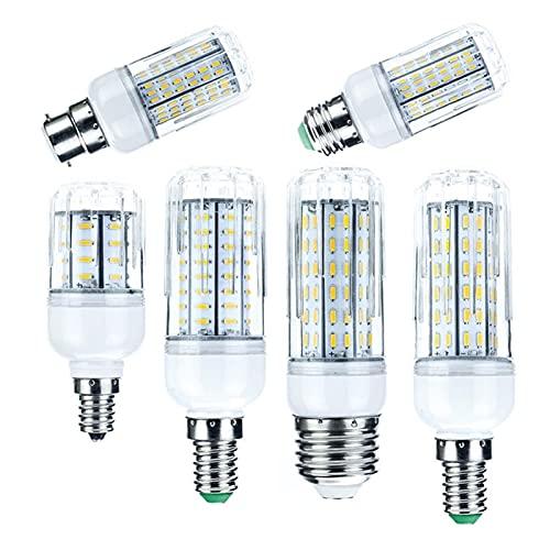 Lampada Mais 1pc, luminoso GUIDATO Lampadine di mais. E14 B22 E27 GU10 10W 20W 25W 30W 36 72 96 138LE DS 4014. SMD. Lampade ampolle. AC 110V 220V. Illuminazione leggera (Color : Warm)