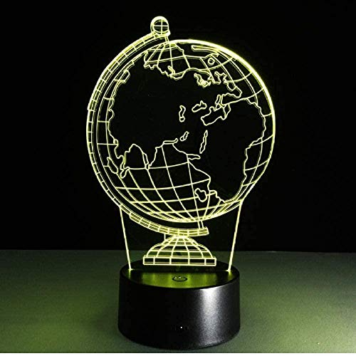 YOUPING 3D Globe led 7 Color Changing Flash Light Table Night Baby Sleep Night lamp Novelty Child Child Holiday Classroom Decor Gift