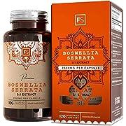 FS Boswellia Serrata Capsule 2000mg   120 Capsule Vegane - Fornitura per 4 Mesi di Alta Resistenza Franchincenso Estratto   Integratore Articolazioni   Non OGM, Senza Glutine e Allergeni