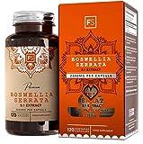FS Boswellia Serrata 5:1 Extrait de Encens | Haute Concentation | 2000mg Supplément | 120 Gélules Vegan | Pour Soin des Articulations | Sans OGM | Sans Gluten et Lactose ou Additif