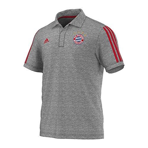 adidas Herren Poloshirt FC Bayern Polo, Core Heather/Fcb True Red, S, M36360