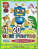 1 - 20 Unir Puntos para Niños de Edades 3-5: Libro Ideal para Práctica de Niños en Preescolar libro unir puntos ( English Puzzle Version ) (Libros Unir Puntos)