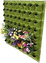 Yosoo 64 Pockets Planting Bags Wall Hanging Gardening Planter Outdoor Indoor Vertical Greening Grow Bags Flower Growing Co...