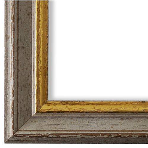 Online Galerie Bingold Bilderrahmen Beige Grau Gold 24x30-24 x 30 cm - Antik, Barock, Vintage - Alle Größen - handgefertigt - WRF - Forli 3,7