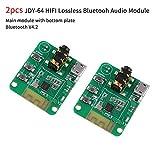 MakerHawk 2 unids Módulo de Audio Bluetooth Inalámbrico V4.2 JDY-64, Receptor de Audio de Alta Fidelidad, Tablero Amplificador de Bluetooth, Distancia de Transmisión 15m, Control de Botón de Soporte