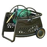 AMES 2517000 NeverLeak Decorative Metal Cart 150-Foot Hose Capacity