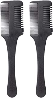 Solustre 2pcs Shaper Hair Razor With Comb Plastic Hair Trimmer Styler Comb for Thin Thick Hair Cutting and Styling