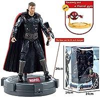 マーベルアベンジャーズタイタンヒーローシリーズキャプテンアメリカ/アイアンマン電源FXのフィギュア - ライトベースとAマーベルジャイロ(カラー:3)との共同可動アクションフィギュア
