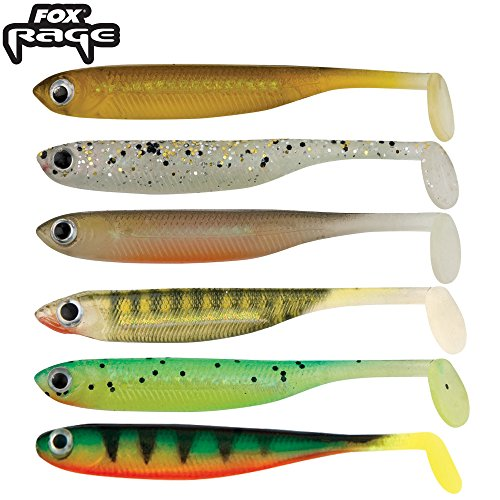 Fox Rage 8 Micro Tiddler Fast Gummifische 5cm, Farbe:Gold Shiner