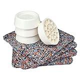 Antivibrationsmatte für Waschmaschine oder Trockner, Antirutschmatte und Vibrationsdämpfer 4er Set