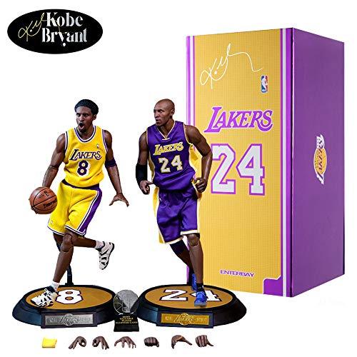 ZZH Figuras Jugador Baloncesto La NBA: Kobe Bryant Real Masterpiece 1/6 Figura Acción,Accesorios Escritorio (2 Unidades),A