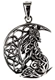 Kiss of Leather Anhänger Wolf im Mond aus 925 Sterling Silber Nr. 354
