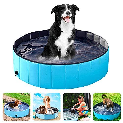 Winkeyes Piscina de PVC para perros y mascotas, piscina para perros y gatos, plegable, plegable, plegable, antideslizante, para niños, para jardín, baño al aire libre, 80 x 20 cm