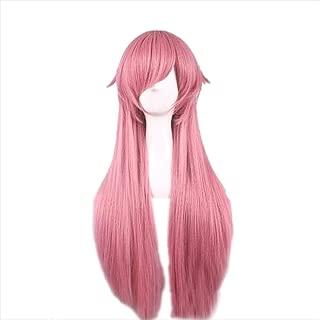 Tulas 80cm Long Straight Anime Wig Mirai Nikki Synthetic Pink Hair Wigs Cosplay for The Future Diary Yuno Gasai