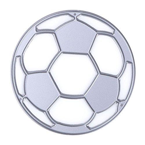 Facibom - Fustelle per album di ritagli, motivo: Coppa del Mondo di calcio, per fai da te, per album fotografici, decorazioni in rilievo, 6,5 x 6,5 cm