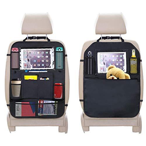 シートバックポケット 車用収納ポケット キックガード 付き 2枚セット 車 収納 後部座席収納 10インチipad収納可能 多機能 大容量 子供のキック対策