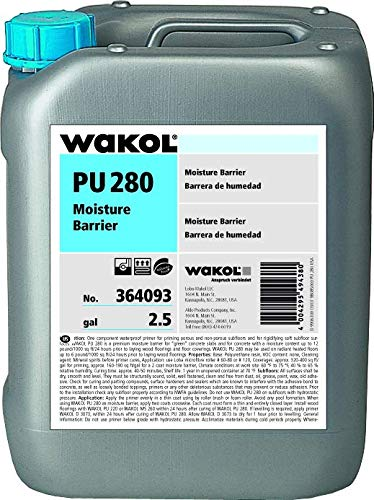 Polyurethan Wakol Lecol PU 280 5 kg GRUNDIERUNG & Feuchtigkeit Barriere für Außenpflasterung aus Holz