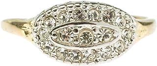 Providence Vintage Jewelry Clear Swarovski Crystal 18k Gold Plated Pavé Ring