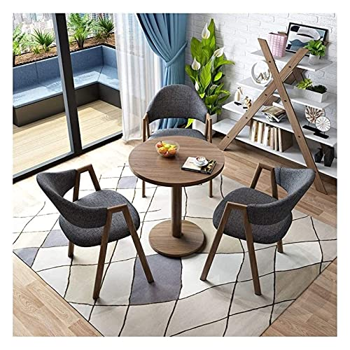 Cocina Mesa de ocio Mesa de comedor Conjunto para cocina o decoración del hotel, mesa y silla Conjunto de 4 Cocina para el hogar Mesa de ocio 60 cm Sala de estar Mesa redonda Balcón Terraza Sala de es