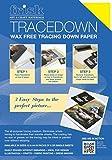 Frisk Tracedown - Papel de calco gráfico (A4, 5 Unidades), Color Amarillo