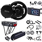 BAFANG BBS02B 48V 750W Ebike Conversion Kit : Mid Drive Electric Bike Motor with 500C LCD Display for Mountain Bicycle Road Bicycles Commuter Bikes (NO Battery)
