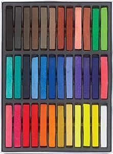 Boolavard - Kit de tizas en color pastel para el cabello, duración temporal, no tóxicas, 36 unidades