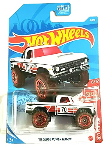 DieCast Hotwheels '70 Dodge Power Wagon (White) - Red Edition 6/12