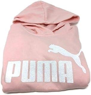 قلنسوة للفتيات من PUMA مطبوع عليها شعار No .1 من الصوف الصناعي للفتيات رقم 1 شعار سترة بقلنسوة من الصوف