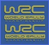 Ecoshirt TU-P74H-K3Y9 Pegatinas WRC Rally Dr1009 Vinilo Adesivi Decal Aufkleber Клей Stickers Car Voiture, Oro
