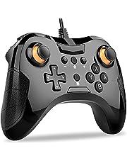 Switch コントローラー DinoFire Bluetooth Switch プロコン 左片側HD振動 ジャイロセンサー 機能搭載 任天堂 Switch Pro コントローラー 対応 任天堂 スイッチ 支持 コントローラースプラトゥーン2 ゼルダ マリオカート8 対応