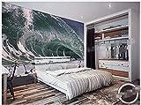 Papel pintado 3D Art Background Artistic Ocean Sea Spray Hotel Pintura de papel para sala de estar Pared Pintado Papel tapiz 3D Decoración dormitorio Fotomural sala mural-300cm×210cm