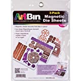 Includes 3 die cut magnetic sheets. Fits in ArtBin Magnetic Die Storage Case (6978AB). Shown with assorted dies including those from Cheery Lynn designs (not included). Store, organize and protect your metal cutting dies.