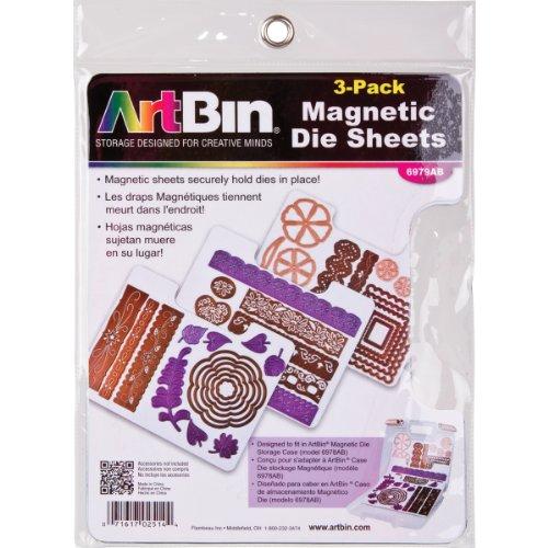 ArtBin 6979AB DIE Cut MAGENTIC STOAGE Sheets Refills 3PK, 3, Multicolor