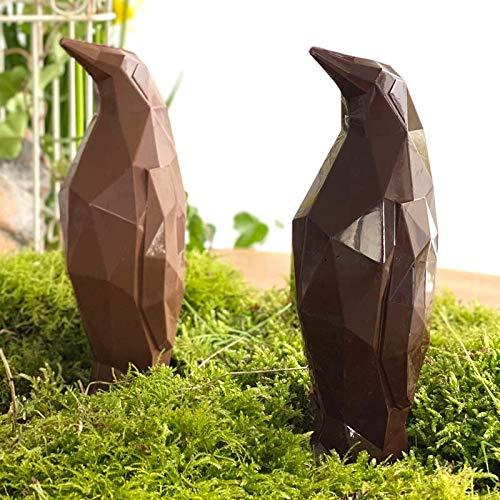 LOT DE 2 Moulage chocolat de Pâques GUSTIN LE PINGOUIN 2x80g - chocolat de Pâques - Fabrication 100 % artisanale et Française - chocolat lapin poule cloche poussin oeuf