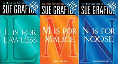Sue Grafton Kinsey Millhone Book Set: L, M, N (L is for Lawless, M is for Malice, N is for Noose)