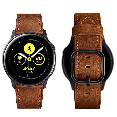 Aottom Cinturino Compatibile Cinturino 20mm Samsung Galaxy Watch Active 2 44mm Cinturino Orologio Pelle Galaxy Watch 3 41mm Cinturino di Ricambio per Samsung Galaxy Watch 42mm/Active/Huawei Watch GT2