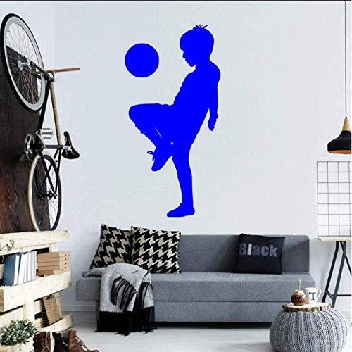 Wandaufkleber Tapete Aufkleber Aufkleber Verzierung Raumdekoration Aufkleber Kinder Spielen Fußball Muster Sport Stil Wandtattoo 29X58cm
