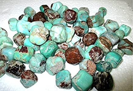 """Jet Chrysoprase Tumbled Stone 100 Grams Approx.75""""to 1 Inch Genuine A Grade w/Velvet Pouch Superior Quality Original Gemstone Image is JUST A Reference."""