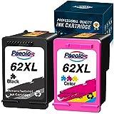 Paeolos Reacondicionado 62 62 XL Reemplazo para HP 62XL Cartuchos de Tinta Compatible con HP Envy 5540 5541 5740 5544 5545 5546 5547 5548 5640 5646 7640 OfficeJet 200 250 5740 5742 (1 Negro, 1 Color)